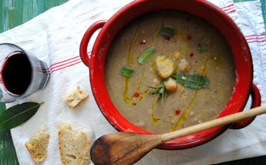 Zuppa di castagne e ceci: un concentrato di energia!