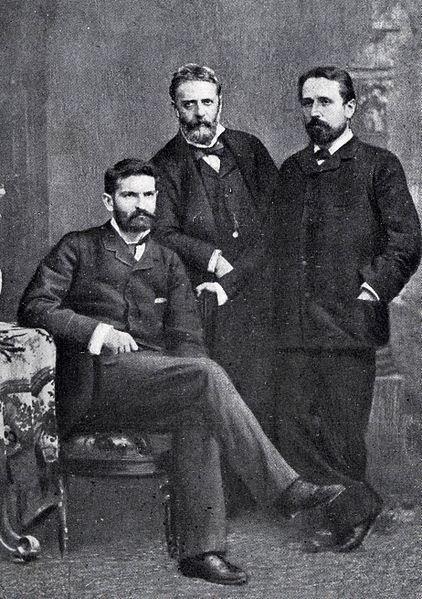 Da sinistra a destra: Sidney Sonnino, Nicola Mameli, Giustino Fortunato.