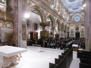 Cattedrale durante i restauri