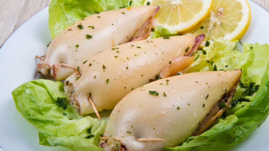 Calamari ripieni alle erbe aromatiche